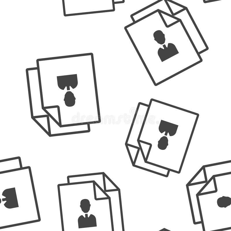 Imagem do vetor do documento de neg?cio Símbolo do teste padrão sem emenda da gestão em um fundo branco ilustração do vetor