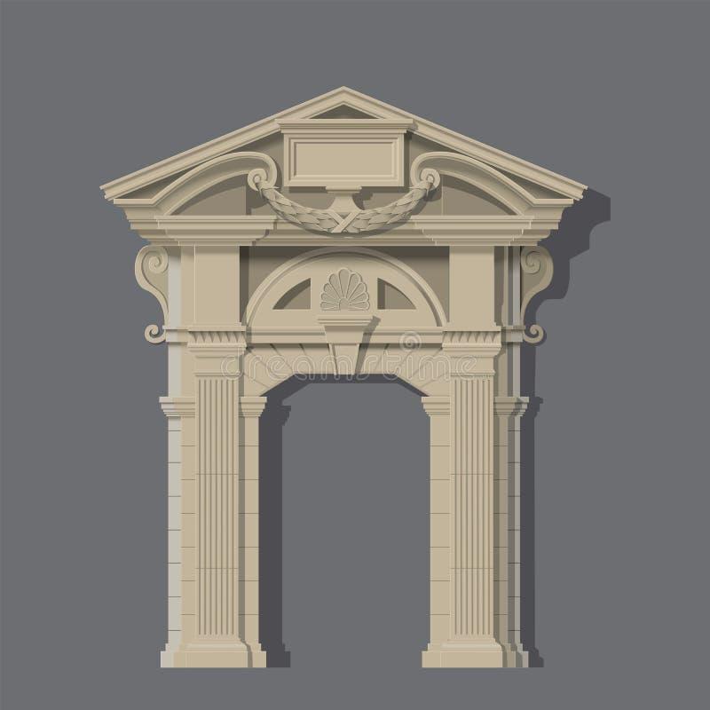 Imagem do vetor, entrada de pedra da casa ilustração royalty free