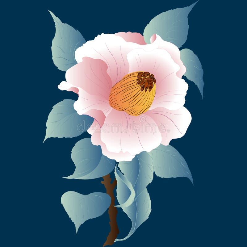 Imagem do vetor Flor cor-de-rosa - fundo Objeto isolado Use materiais impressos, sinais, objetos, Web site, mapas, cartazes, cart ilustração royalty free