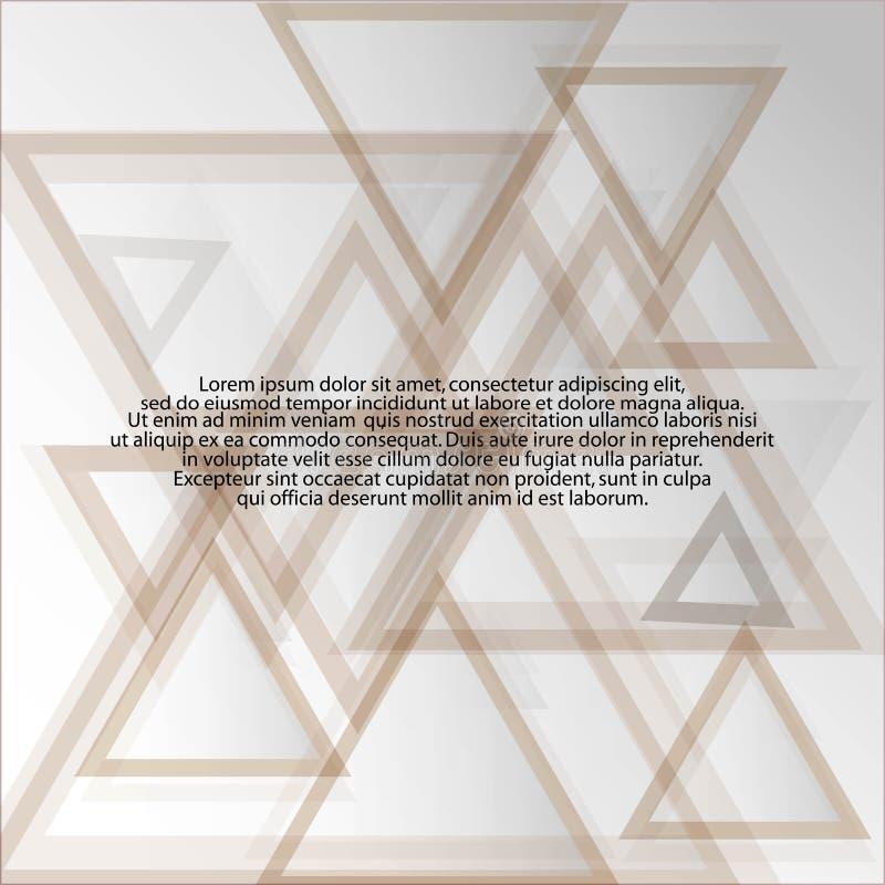 Imagem do vetor Maket para anunciar Fundo triangular Eps 10 ilustração royalty free