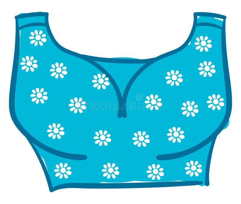 Imagem do vetor ou da cor azul floral da bras ilustração royalty free