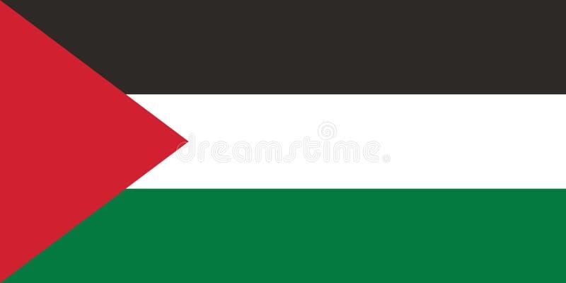 Imagem do vetor para a bandeira de Palestina Baseado no oficial e na bandeira palestina exata ilustração stock
