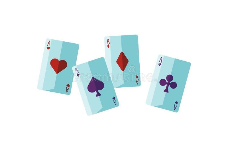 Imagem do vetor plano das placas de contar fortuna atributo Soothsayer Cartomância, adivinhação, sortilege, leitura de cartas ilustração stock