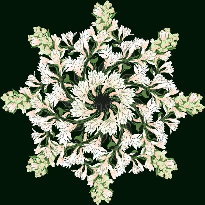 Imagem do vetor Tuberose - ramos plantas medicinais, da perfumaria e do cosmético wallpaper Use materiais impressos, sinais, cart ilustração royalty free