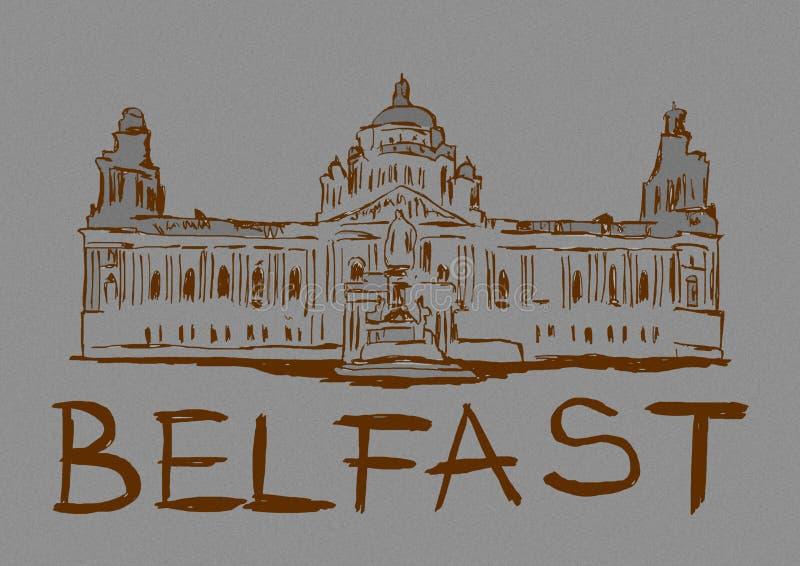 Imagem do vintage da cidade de Belfast ilustração stock