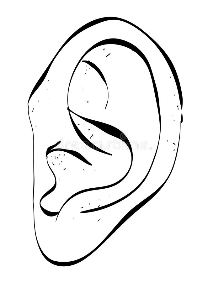 imagem dos desenhos animados da orelha humana ilustração