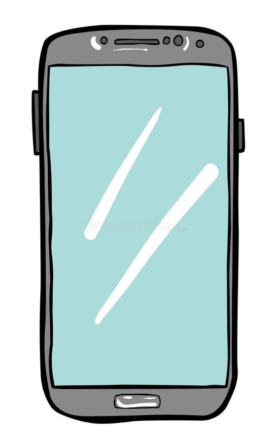 Imagem dos desenhos animados do ícone do telefone celular Pictograma de Smartphone ilustração royalty free