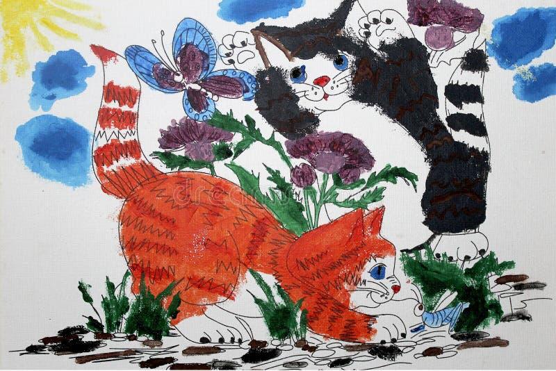Imagem dos gatinhos ilustração royalty free