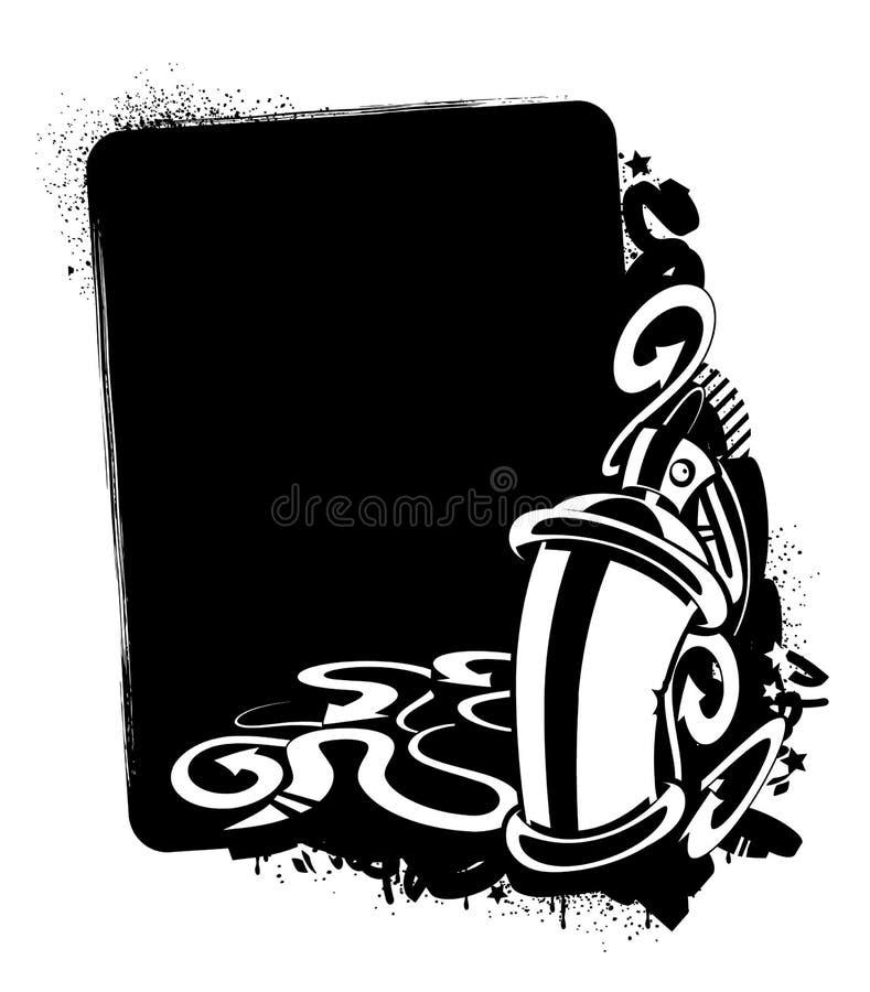 Imagem dos grafittis ilustração stock