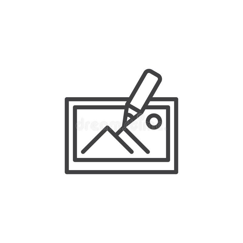 A imagem edita o ícone do esboço da ferramenta ilustração stock