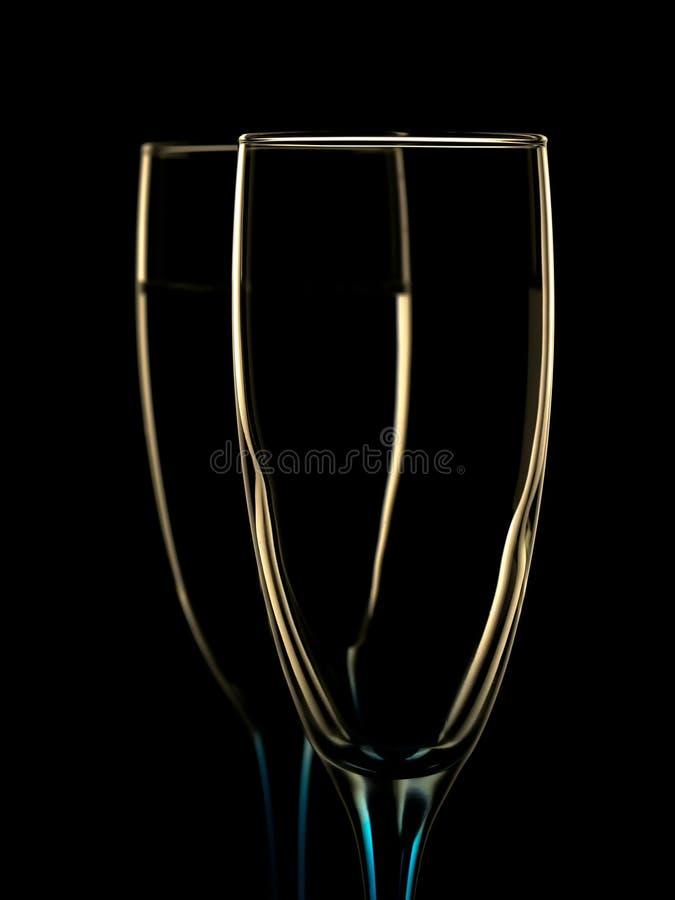Imagem elegante de vidros do champanhe fotografia de stock royalty free
