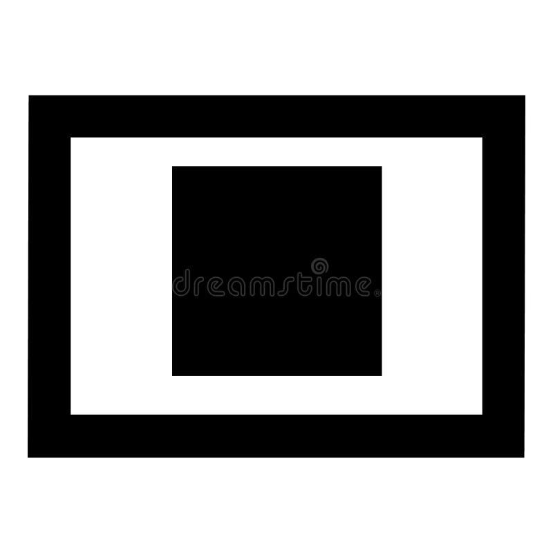 Imagem em um ícone do quadro, estilo simples ilustração stock