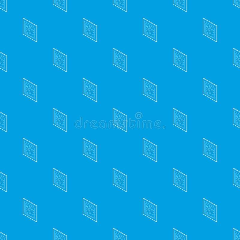 Imagem em um azul sem emenda do vetor do teste padrão do quadro ilustração stock