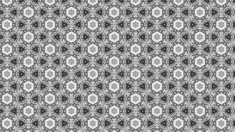 Imagem escura de Grey Floral Pattern Texture Background ilustração stock