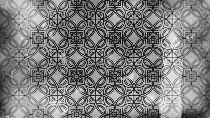 Imagem escura do teste padrão do papel de parede de Grey Vintage Decorative Floral Ornament ilustração do vetor