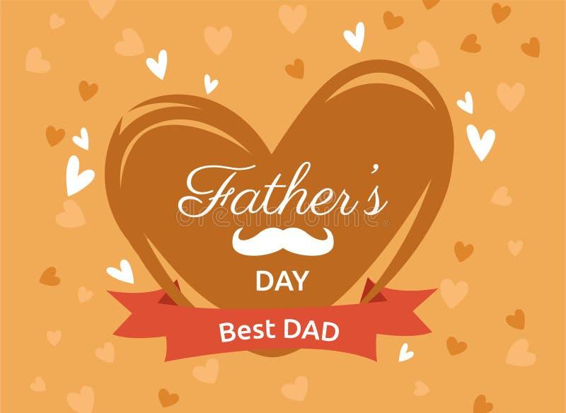Imagem feliz do vetor do dia de pais ilustração royalty free