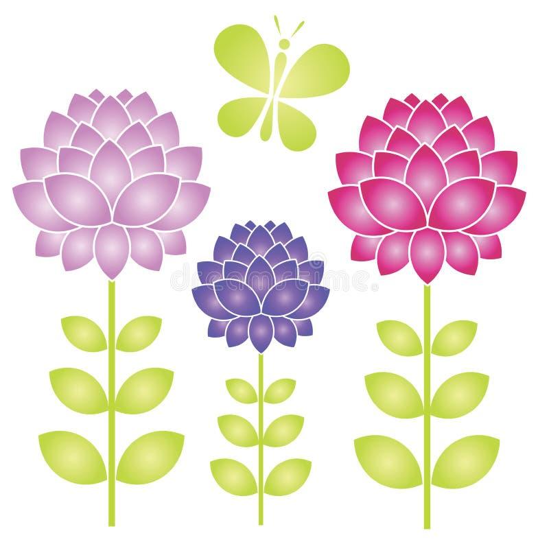 Imagem floral isolada mola ilustração royalty free