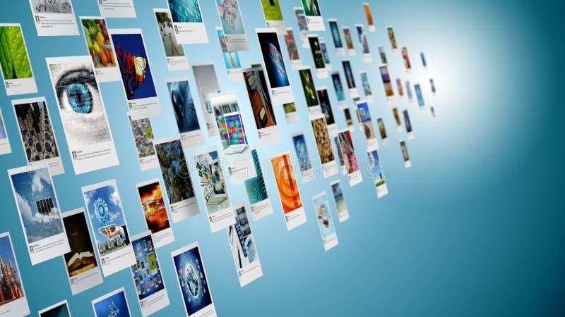Imagem, foto ou imagem compartilhando do conceito no Internet imagens de stock royalty free