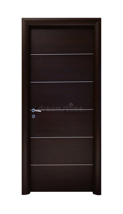 Porta de madeira do marrom escuro imagem de stock royalty free