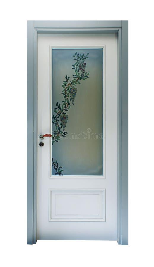 Porta com decoração floral imagens de stock