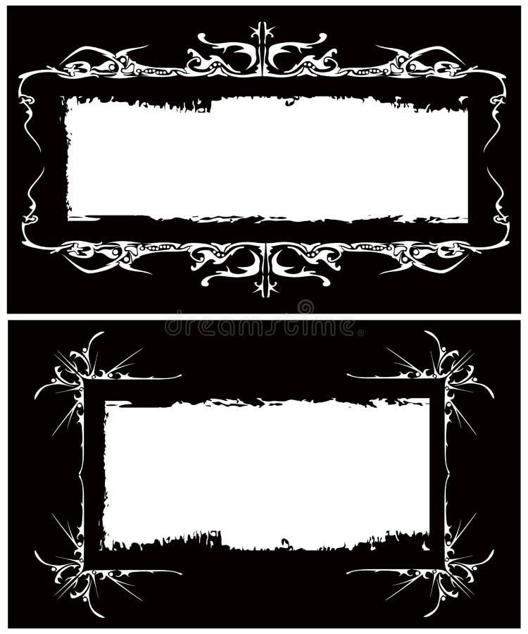 A imagem gótico dos frames do vetor ilustração do vetor