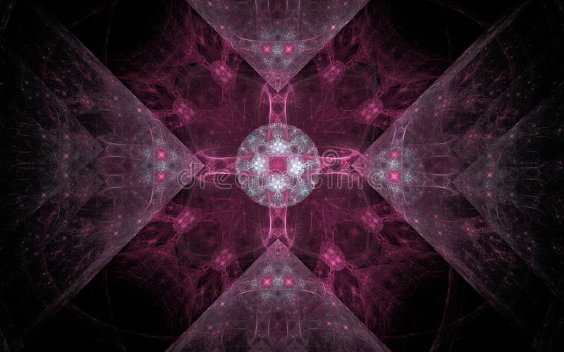 A imagem gerada Digital feita do fractal colorido para servir como o contexto para projetos relacionou-se à fantasia, faculdade c ilustração stock