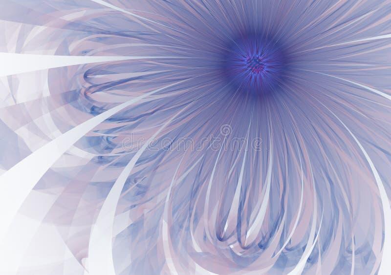 Imagem gerada por computador da flor azul delicada e macia do fractal para o logotipo, conceitos de projeto, Web, cópias, cartaze fotografia de stock royalty free