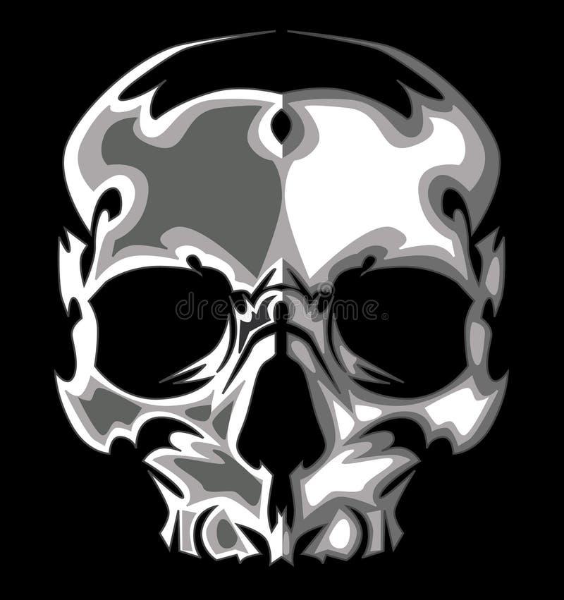 Imagem gráfica do crânio no vetor preto ilustração do vetor