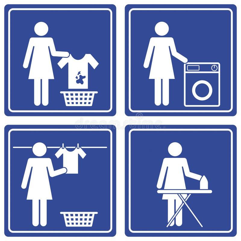 Imagem gráfica - lavanderia ilustração do vetor