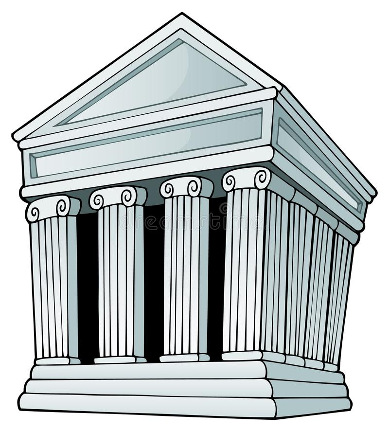 Imagem grega 1 do tema ilustração do vetor