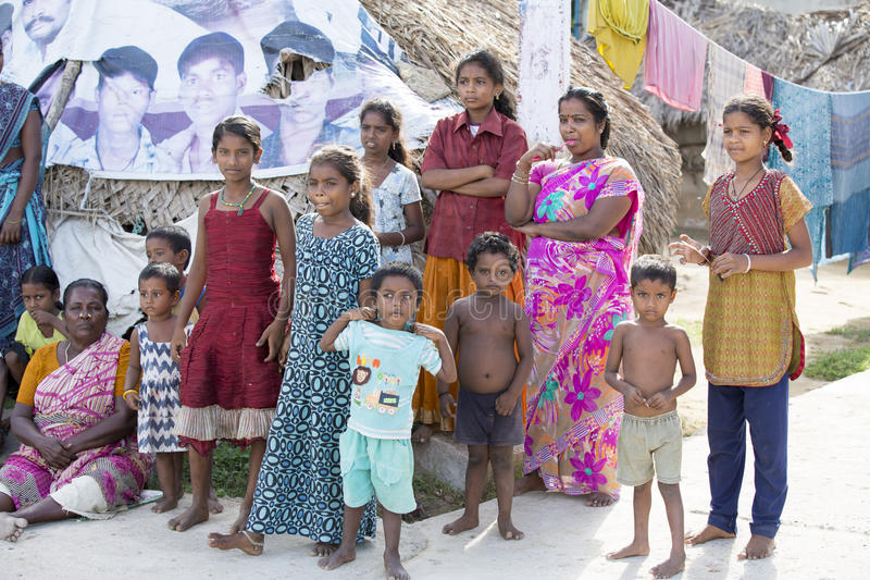 Imagem ilustrativa editorial Reunião da família na Índia foto de stock