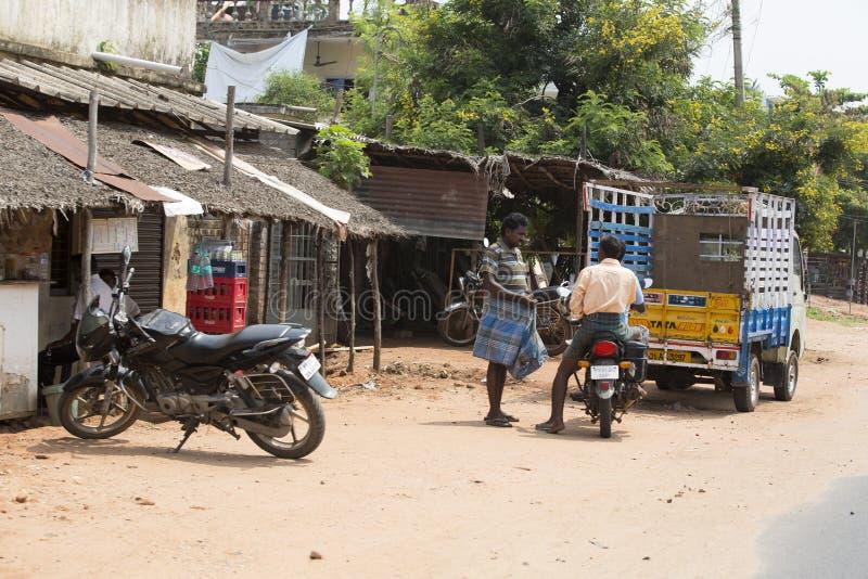 Imagem ilustrativa editorial Velomotor a mover-se na Índia imagem de stock royalty free