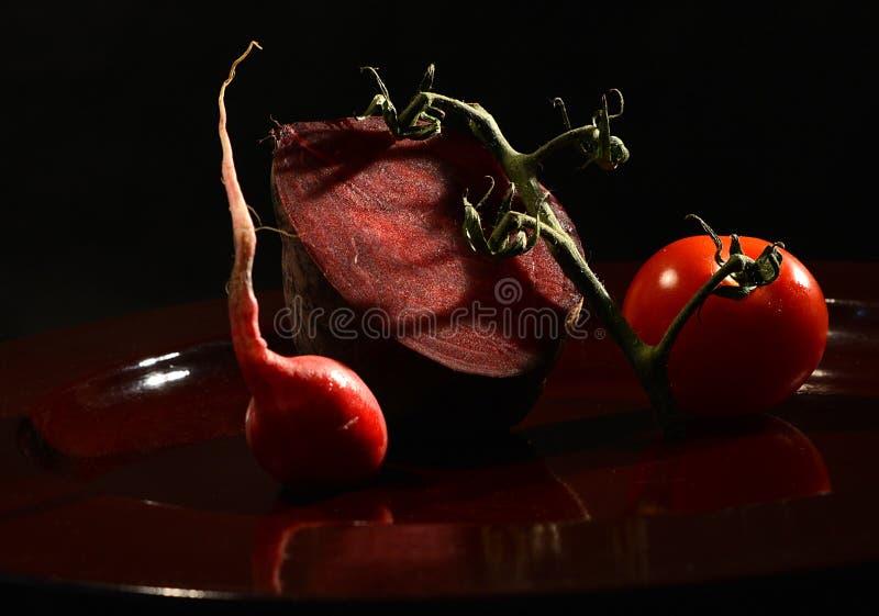 Imagem imóvel vegetal vermelha da vida fotografia de stock