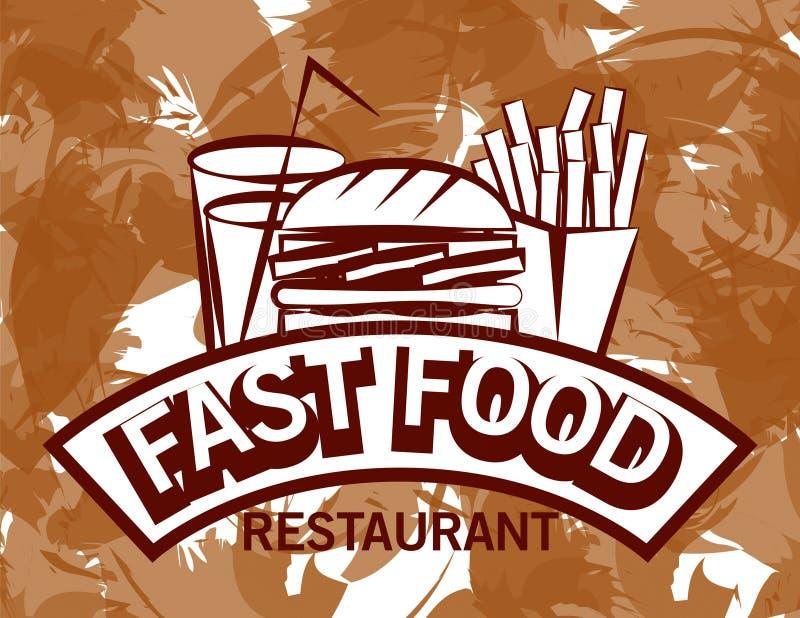 Imagem incorporada para a loja de fast food no tom do sepia ilustração royalty free