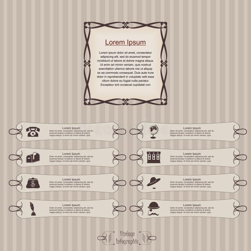 Imagem infographic da etiqueta do vintage ilustração do vetor