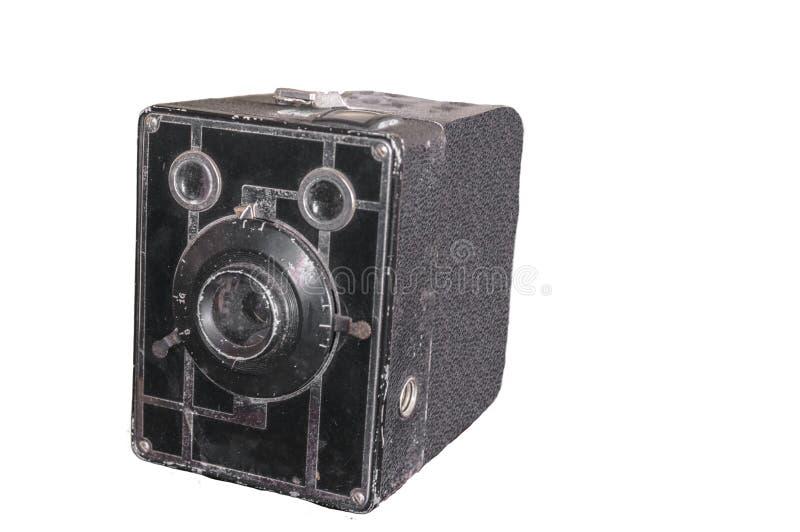 Imagem isolada de uma câmera velha foto de stock