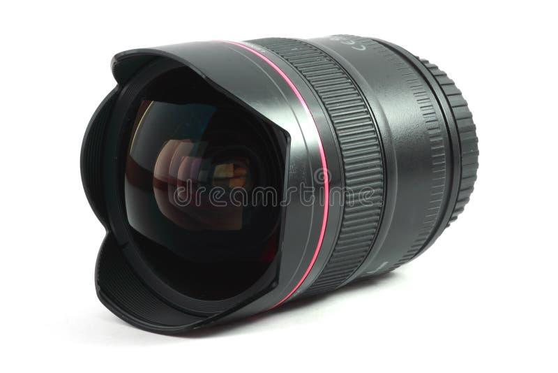 Imagem isolada de uma lente de fisheye fotografia de stock