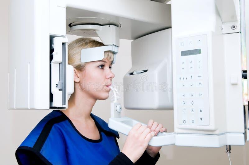 Imagem latente diagnóstica digial dental imagem de stock