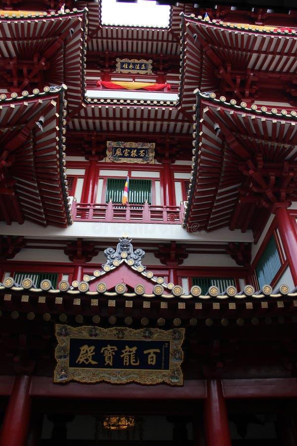 A imagem místico oriental do templo da relíquia do dente da Buda fotos de stock