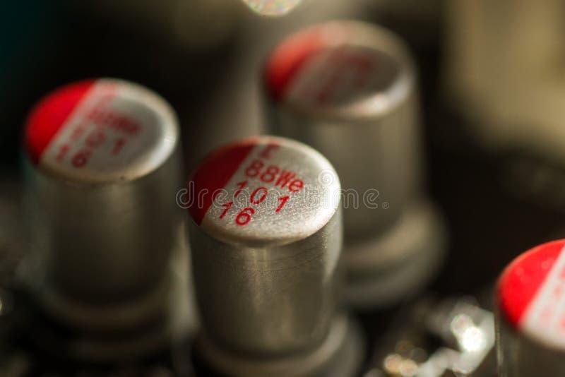 Imagem macro da placa eletrônica do PWB imagens de stock royalty free