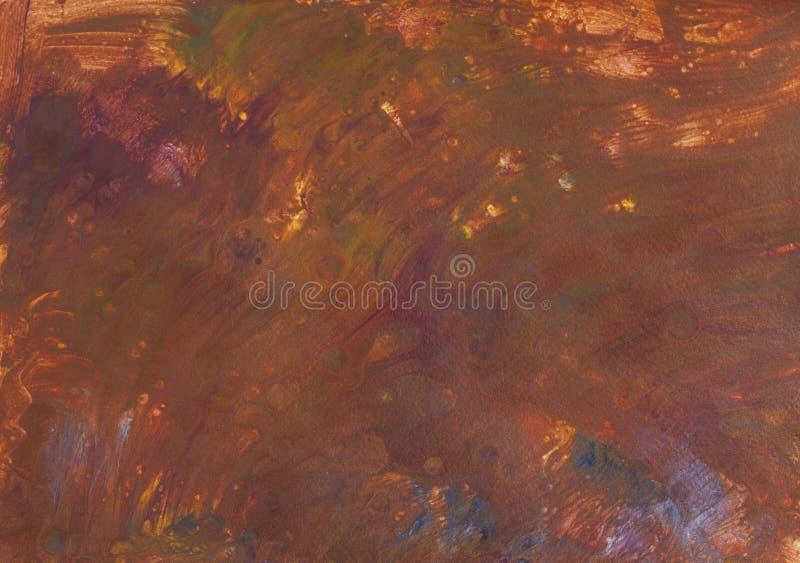 Imagem marrom abstrata na técnica acrílica fluida fotos de stock