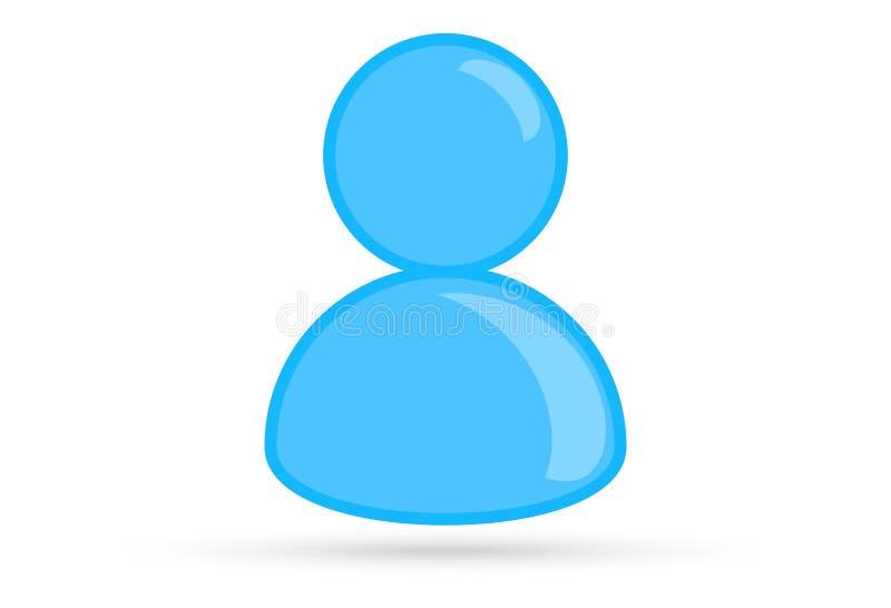 Imagem masculina azul do perfil, símbolo do ícone do avatar do perfil da silhueta ilustração stock