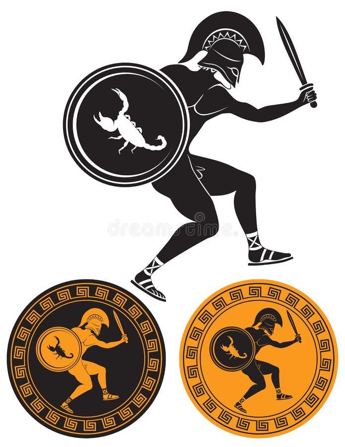 Download Gladiador ilustração do vetor. Ilustração de mito, anel - 29844410