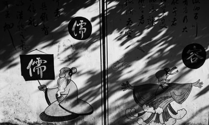 Imagem na parede China foto de stock royalty free