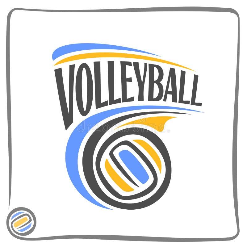 Imagem no tema do voleibol ilustração stock