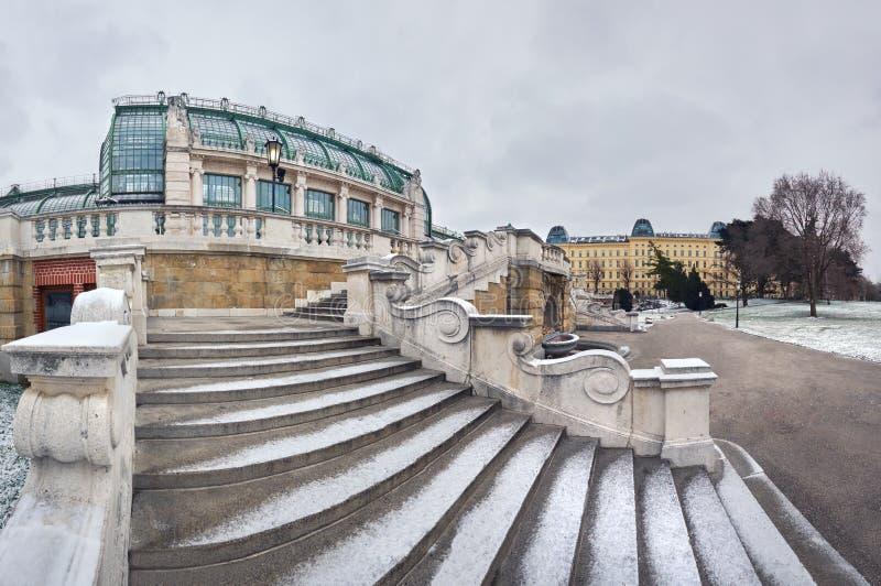 Imagem panorâmico do inverno da escadaria para Butterf imperial fotografia de stock royalty free