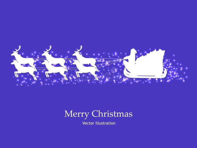 Imagem, papel de parede para o Natal, cartão do ano novo ilustração do vetor