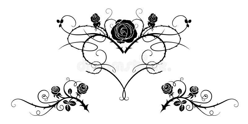 Imagem preta da tatuagem ilustração stock
