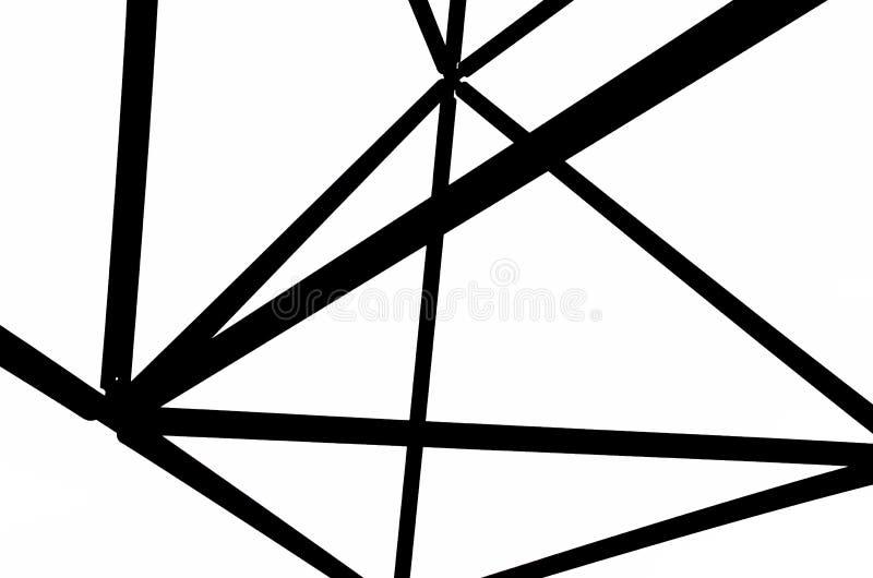 Imagem preto e branco da construção de aço do tetraedro em Bottrop, Alemanha Os princípios da estrutura fotografia de stock royalty free