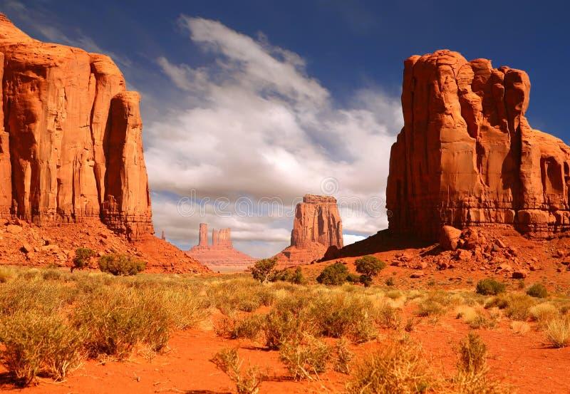 Imagem quadro da paisagem do vale do monumento imagens de stock